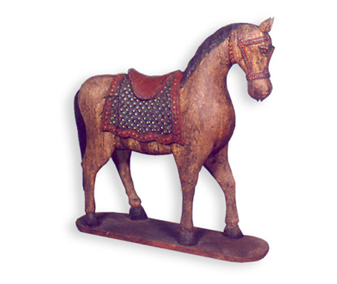 Wooden Carved Horse Gujarat Handicrafts No 372 Opposite Alishan