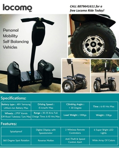 Locomo Self Balancing Vehicle in  Maker Chambers-Nariman Point