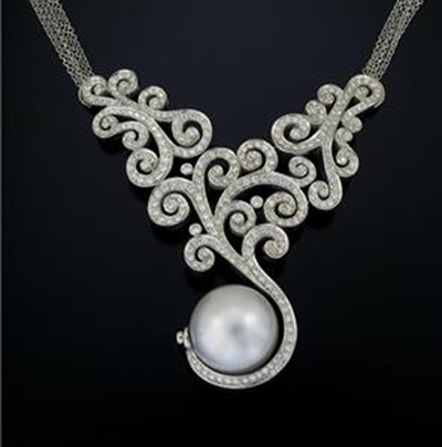 Modern Diamond Necklace