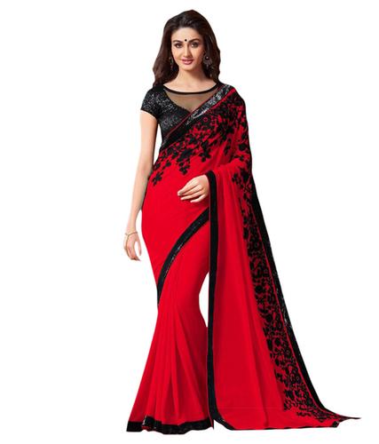 Plain Party Wear Saree in  Varachha