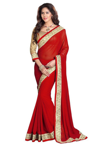 Red Colour Georgette Saree