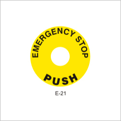 Emergency Stop Button Wall Sign