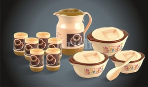 Galaxy Plastic Cup Kettle and Casserole Family Set