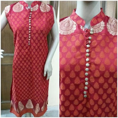 Red Silk Kurtis