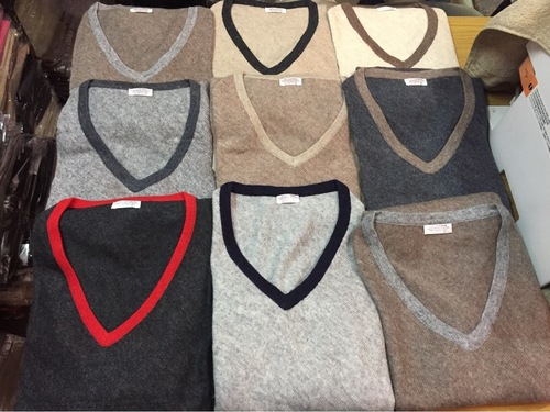 Multi Color Knitted Natural and Color Ponchos