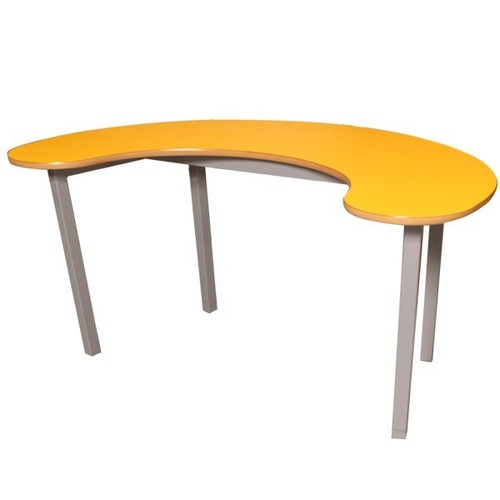 Dark Yellow Color Bean Shaped Table