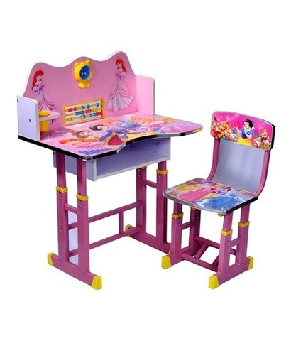Pink Color Plastic Study Table