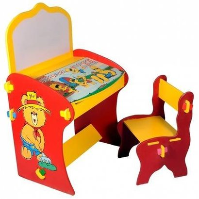 Yellow Color Plastic Study Table