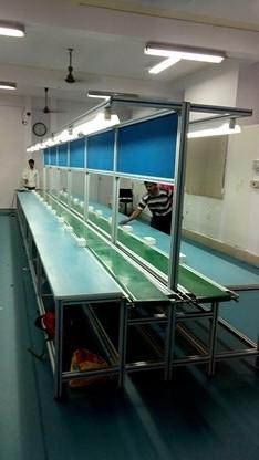 Aluminium Assembly line with Belt Conveyor