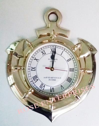 Brass Anchor Wall Clock