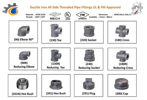 Ductile Threaded Pipe Fittings