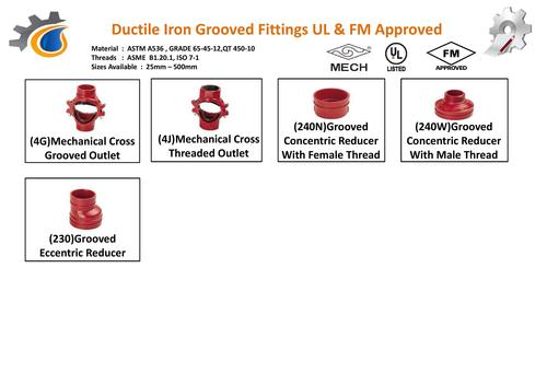 Iron Grooved Outlet Thread Fittings