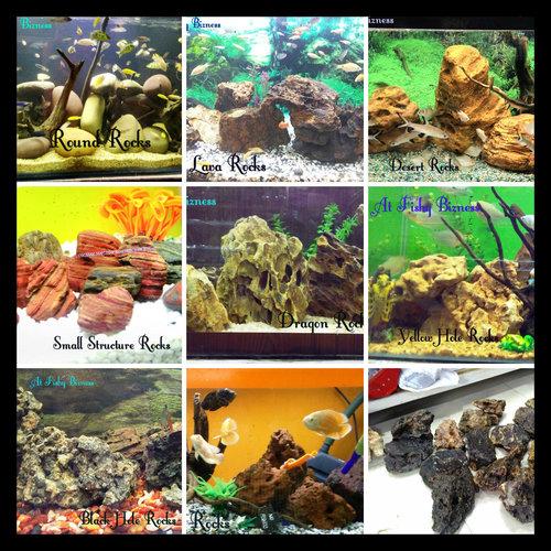 Different Aquarium Stones