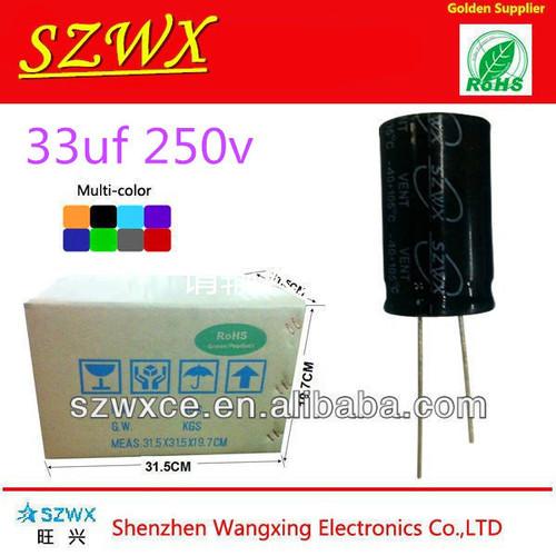 Low ESR Aluminum Electrolytic Capacitors 33UF 250V 13*20mm