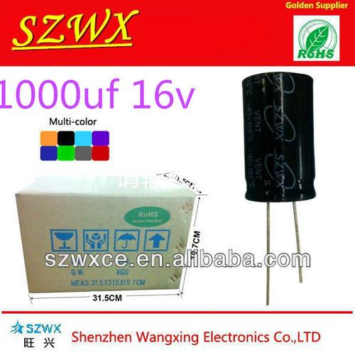 1000UF 16V Aluminum Electrolytic Capacitors