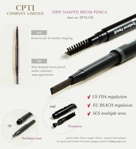 Drip-Shaped Eyebrow Pencil