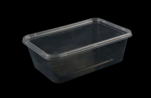 Plastic Rectangle Food Packaging Tray (1000 Ml)