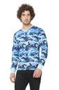 Clifton Mens Army V Neck Full Slevee T shirt