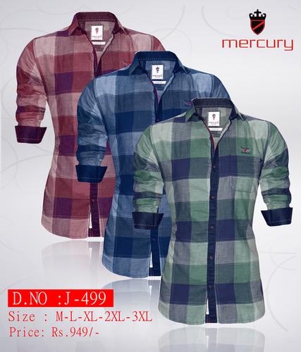12096238924 Mens Designer Check Shirts J-499 - CASH ZONE