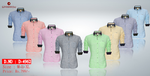 Mens Plain Casual Shirt D-4962