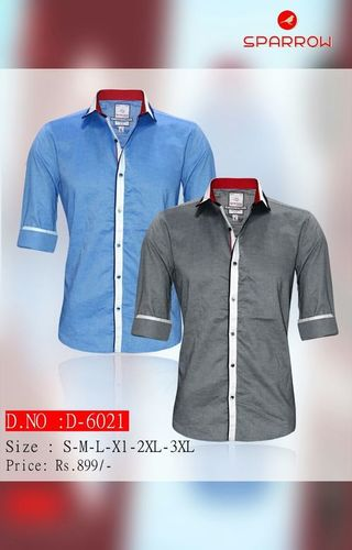 Mens Plain Full Sleeve Shirt D-6021