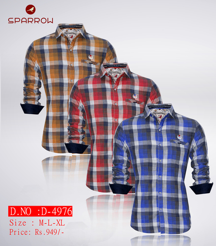 Mens Sparrow Check Shirt D-4976