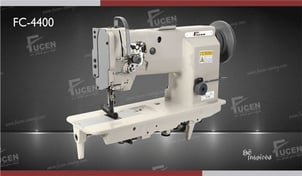 Single Needle Flat Bed Unison Feed Lockstitch Sewing Machine With Vertical Axis Large Hook