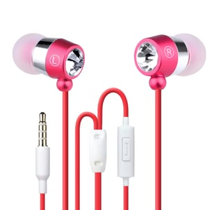 Diamond Fashion Bluetooth Earphones Headphones Earbuds With On Off Button