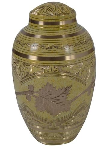 Flower Brass Urn