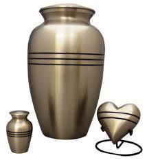 Stripes Brass Urn