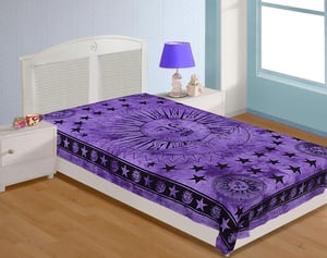 Screen Printed Single BedSheet And Bed Cover