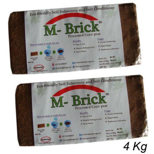 4 Kg Coco Peat Brick