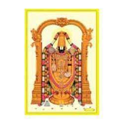 Shri Balaji Poster In Gold Foil 24k