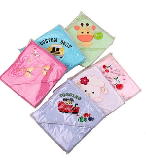 100% Cotton Animal Baby Hooded Towel
