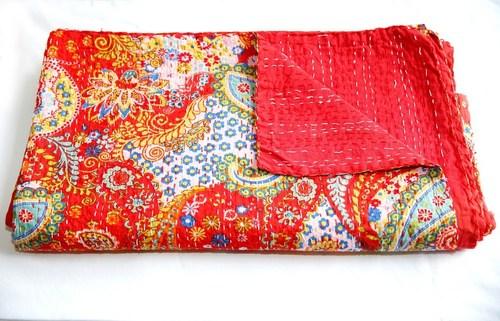 Hand Stitched Kantha Blanket