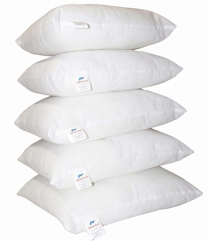 Zikrak Exim White Plain Cushion Filler Set Of 5
