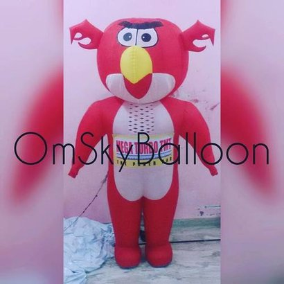Angry Bird Walking Inflatable Size: 8 Feet