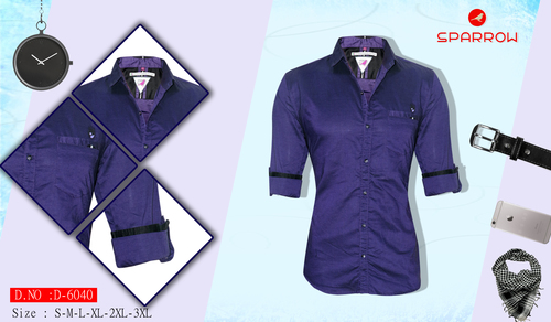 Men's Navy Plain Shirt