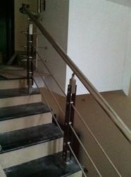 Square Wood Baluster Handrail
