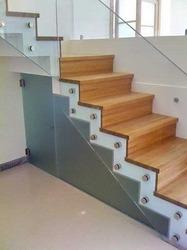 SS Modular Glass Handrail