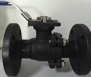 2pc Casting Iron Floating Ball Valve With Flanged Connection Latch Locked