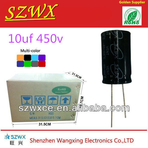 450V 10UF 13*21mm High Voltage Electrolytic Capacitor