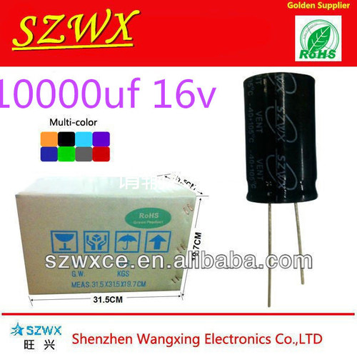 Long Life 3000 Hours Above 10000UF 16V Snap-In Type Capacitors