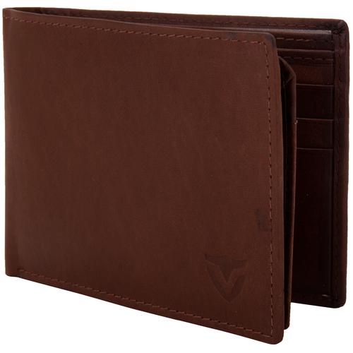 Valbone Men Brown Genuine Leather Wallet