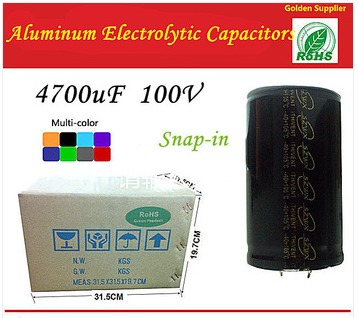 4700UF 100V Snap-in Type 35*40mm Aluminum Electrolytic Capacitors