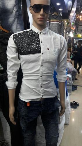 Jute Leather Pattern Shirt in  Wadala