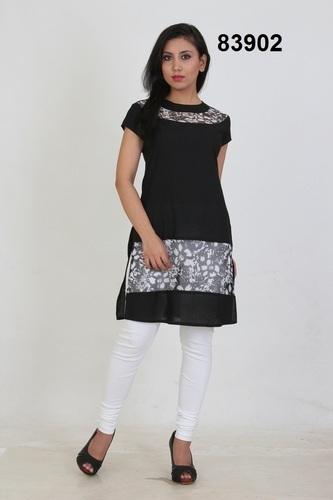 e4c00dbf8cb4 Cotton With Printed Net Short Kurti
