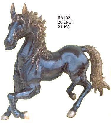 Brass Copper Finish Dakota Horse Statue