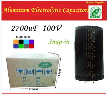 2700uf 100v Snap-In Type 35*30mm Aluminum Electrolytic Capacitors