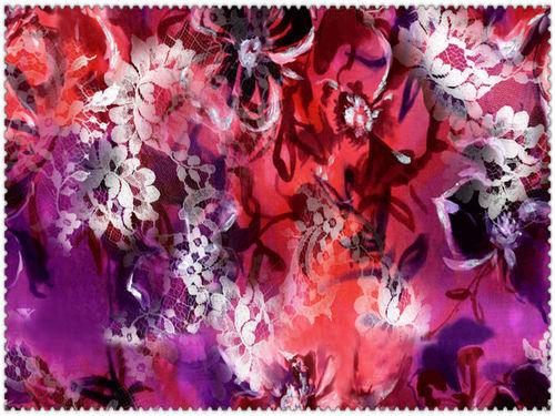 Flower Printed Digital Fabric